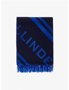 Frame Jacquard Wool Scarf Pop Blue