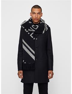 Frame Jacquard Wool Scarf White