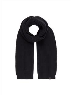 Mens Arn Winter Knit Scarf Black