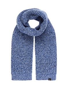 Mens Arn Marled Winter Mix Scarf Pop Blue