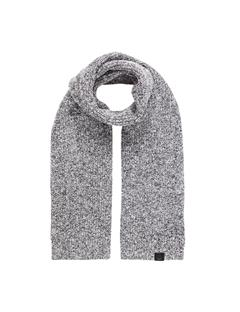 Mens Arn Marled Winter Mix Scarf Stone Grey Mel