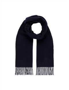 Mens Champ Solid Wool Scarf Black