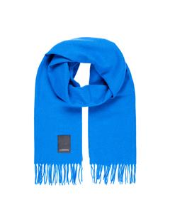 Mens Champ Solid Wool Scarf Pop Blue