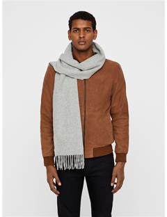 Mens Champ Solid Wool Scarf Stone Grey Mel