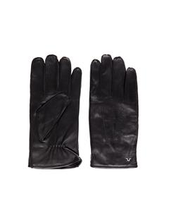 Mens Milo Surface Leather Gloves Black
