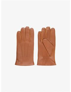 Mens Milo Surface Leather Gloves Cognac