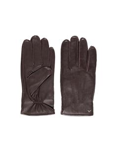 Mens Milo Surface Leather Gloves DK Brown