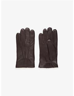 Mens Sofo Deer Skin Gloves DK Brown