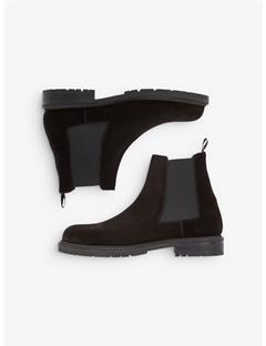 Mens Suede Chelsea Boots Black