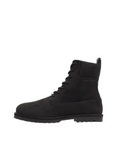 Mens Tank High Top Boots Black