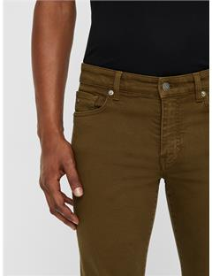Jay Solid Stretch Jeans Dark Olive