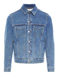 Mens Max Fuji Blue Denim Jacket Mid Blue