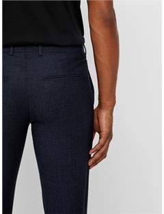 Grant Fancy Wool Pants Mid Blue