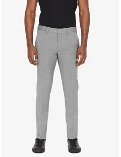 Mens Paulie Comfort Wool Pants Lt Grey Melange