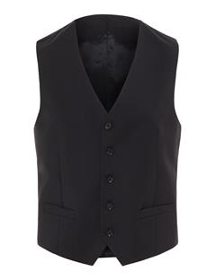 Mens Justin Comfort Wool Waistcoat Black
