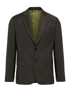 Mens Hopper Soft Comfort Wool Blazer Dark Green