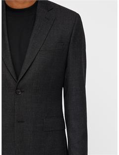 Donnie Fancy Wool Blazer Black