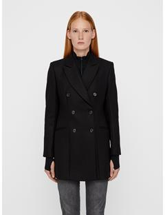 Womens Cypress Compact Melton Coat Black