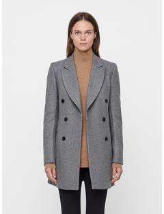 Womens Cypress Compact Melton Coat Dk Grey