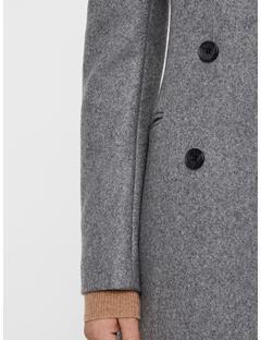 Womens Cypress Compact Melton Coat Dk Grey