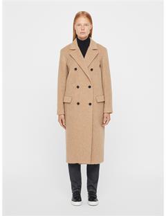 Womens Amaris Fluffy Wool Coat Burro