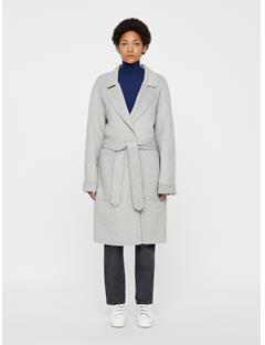 Womens Kahlo Double Coat Lt Grey Mel