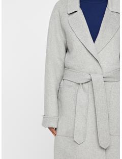 Womens Kahlo Double Coat Lt Grey Mel