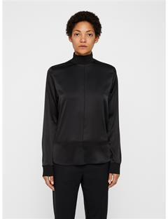 Heidi Washed Silk Shirt Black