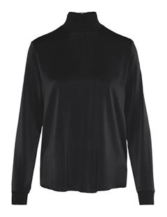 Womens Heidi Washed Silk Shirt Black
