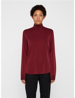 Heidi Washed Silk Shirt Burgundy