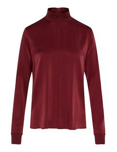 Womens Heidi Washed Silk Shirt Burgundy