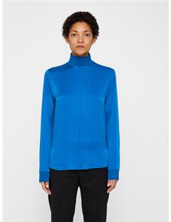 Heidi Washed Silk Shirt Wonder Blue