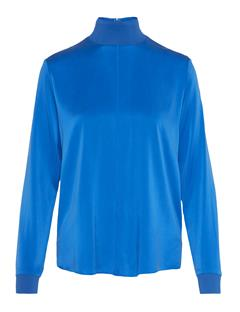 Womens Heidi Washed Silk Shirt Wonder Blue