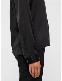 Mallory Washed Silk Shirt Black