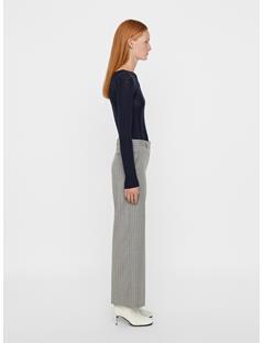Womens Carol Merino Ribbed Sweater JL Navy