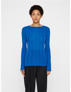 Womens Carol Merino Ribbed Sweater Wonder Blue