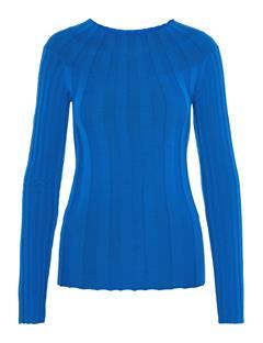 Womens Carol Merino Ribbed Sweater Wonder Blue