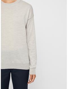 Womens Kerli Perfect Merino Sweater Lt Grey Mel