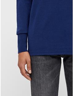 Womens Dolci Perfect Merino Sweater JL Navy