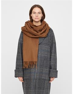 Womens Frame Wool Scarf Bison