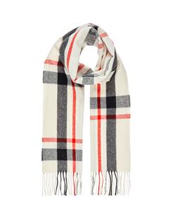 Quad Compact Wool Scarf Off White
