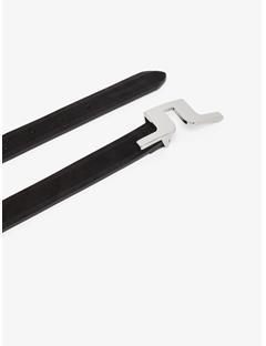 Womens Pin Buckle Suede Belt Black