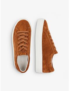 Womens Suede Low Top Sneakers Bison