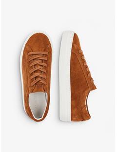 Womens Suede Low Top Sneakers Bison
