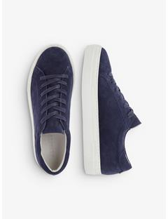 Womens Suede Low Top Sneakers JL Navy