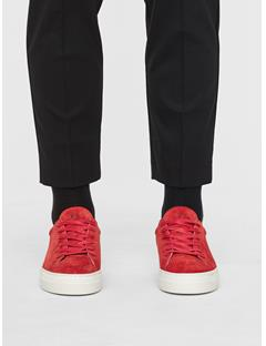 Womens Suede Low Top Sneakers Molten Lava