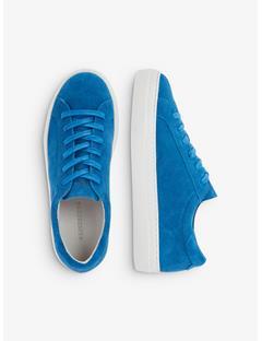 Womens Suede Low Top Sneakers Wonder Blue