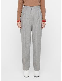 Womens Avalon Wool Flannel Pants Lt Grey Mel