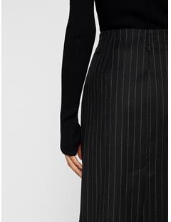 Womens Silva Wool Pin Pencil Skirt Black Stripe