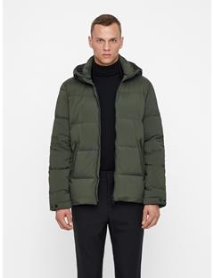 Mens Barry Stretch Down Jacket Dark Green